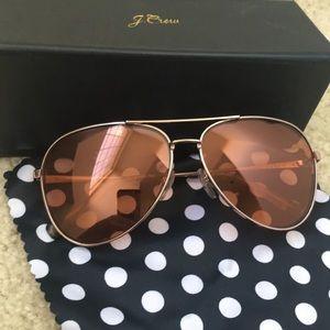 J. Crew Jill Aviator Sunglasses